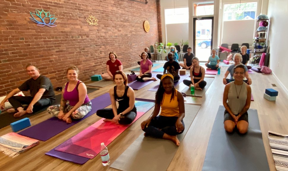 Breathing Space Yoga trauma-informed care practice in the community.